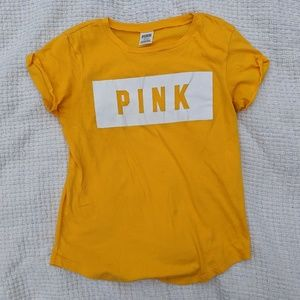 Victoria's Secret PINK Mustard  Yellow T-Shirt / M